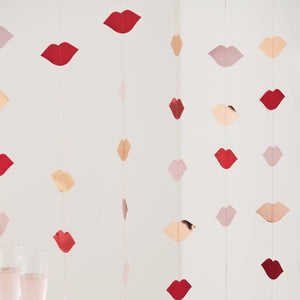 Rose Gold, Red & Pink Foiled Lip Party Backdrop