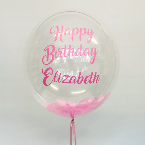 Personalised Clear Bubble Confetti Balloon