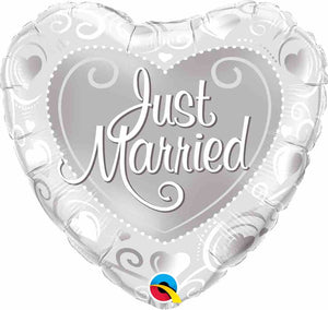 "Just Married 18"" Foil Balloon"