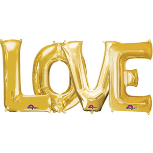 "Large ""LOVE"" Letters Gold 34"""