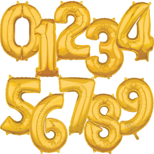 Large Gold Foil Number Balloons 34