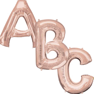 Large Rose Gold Letter Balloons 34""