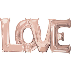 "Large ""LOVE"" Letters Rose Gold 34"""