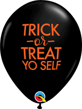 "11"" Latex Trick or Treat Yo Self Halloween Balloon"