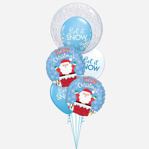 Let it Snow Santa Balloon Bouquet
