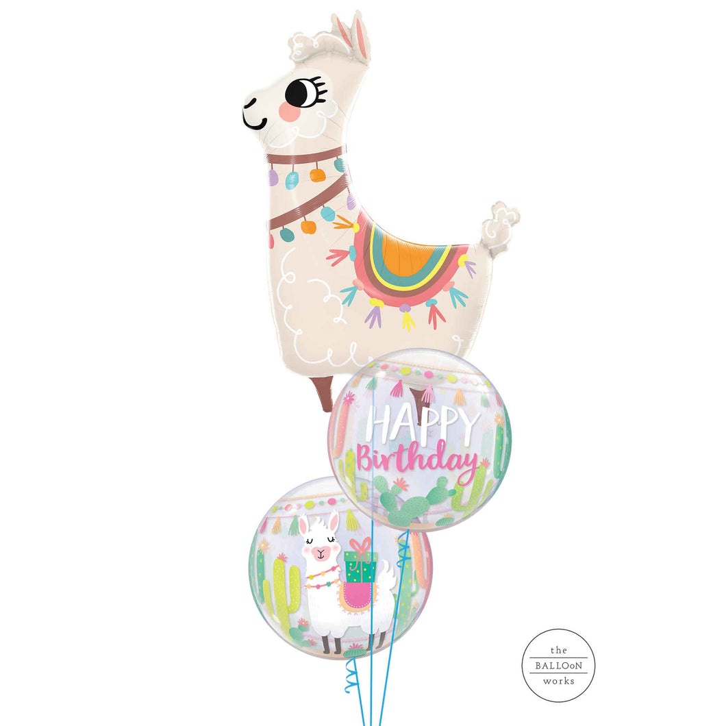 Big Birthday Llama Balloon Bouquet