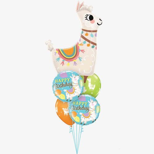 Llama Birthday Balloon Bouquet