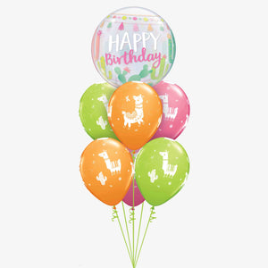 Birthday Llamas & Cactus Balloon Bouquet