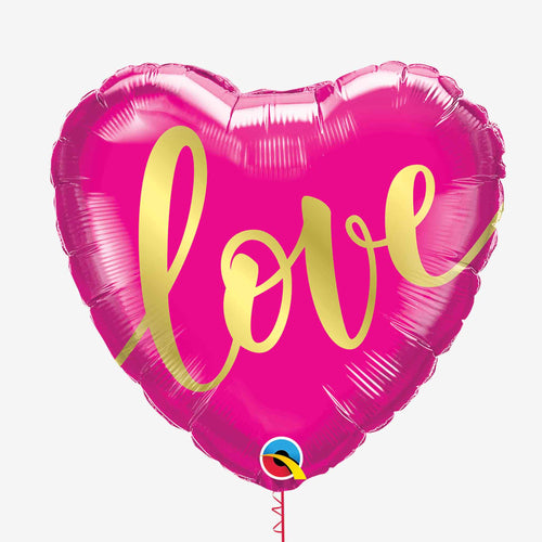Pink and Gold Love Foil Balloon