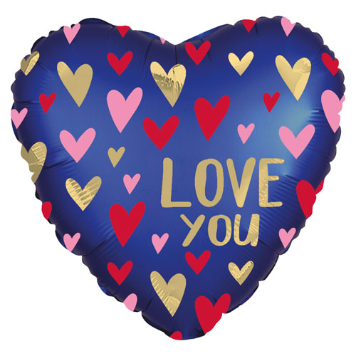 Love you navy Heart Foil Balloon