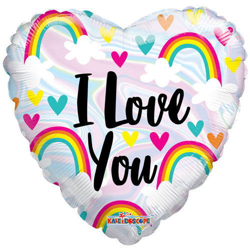 Love you Rainbow Foil Balloon