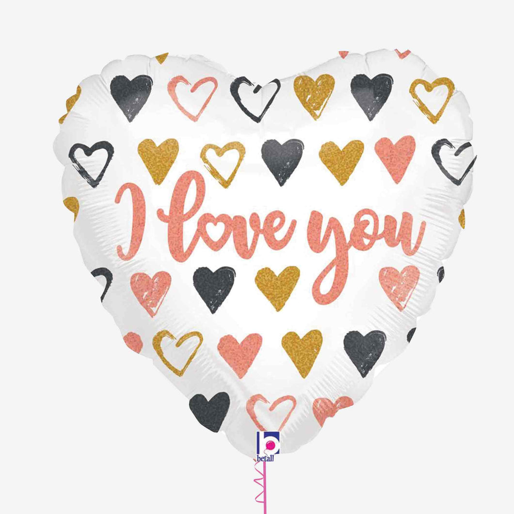 I love You Rose Gold Foil Balloon