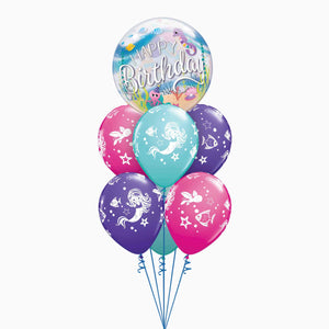 Mermaid Bubble Balloon Bouquet
