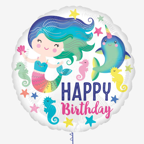 Sea Life Mermaid Foil Balloon