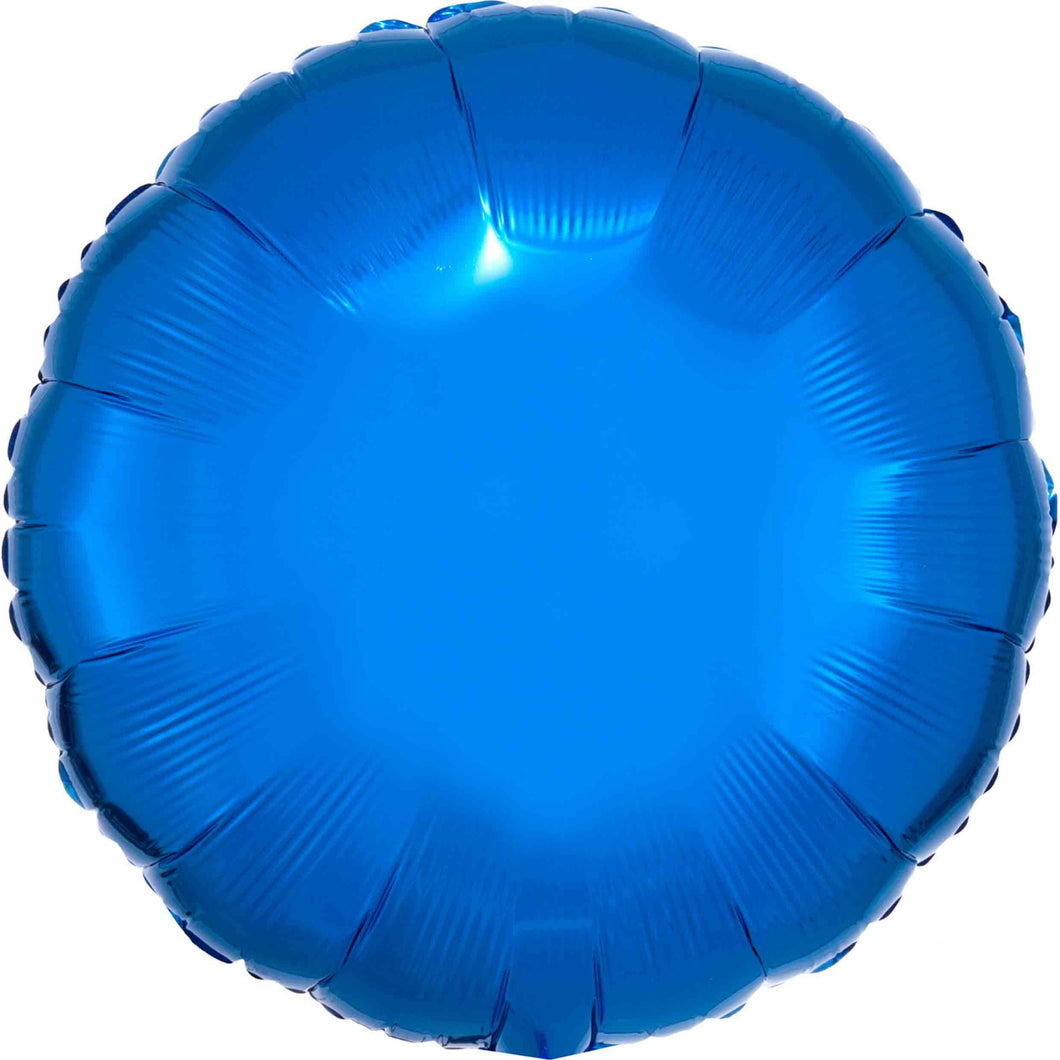 Blue Circle Foil Balloon