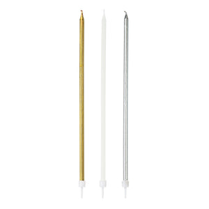 We Heart Metallic Long Candles