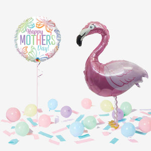 Mother's Day Walking Pet Flamingo Balloon in a Box