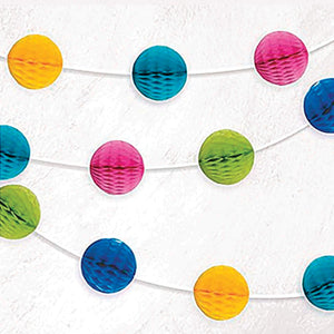 Multi Colour Honeycomb Ball Garland