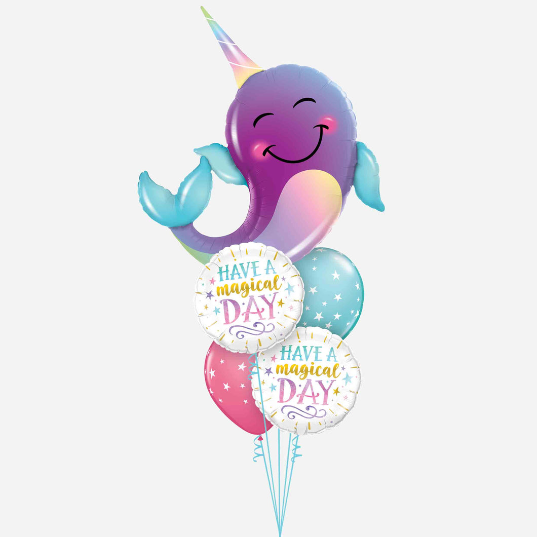 Narwhal Magical Day Balloon Bouquet