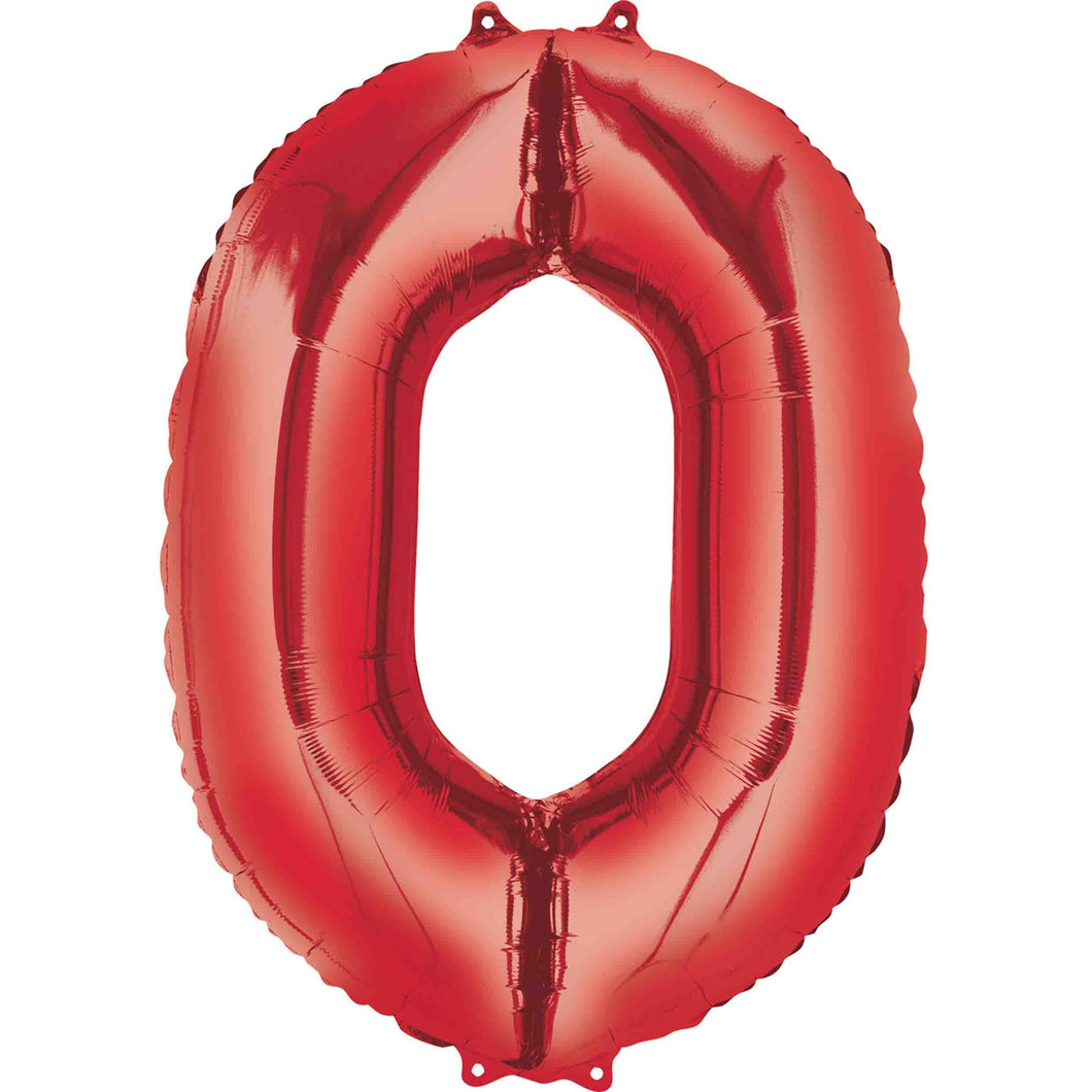 Large Red Foil Number Balloons 34