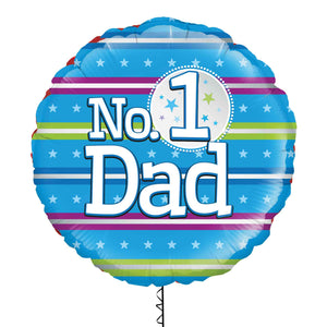 Number 1 Dad Foil Balloon