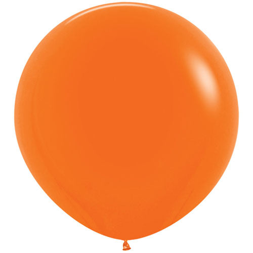 Orange Giant 3ft Latex Balloon