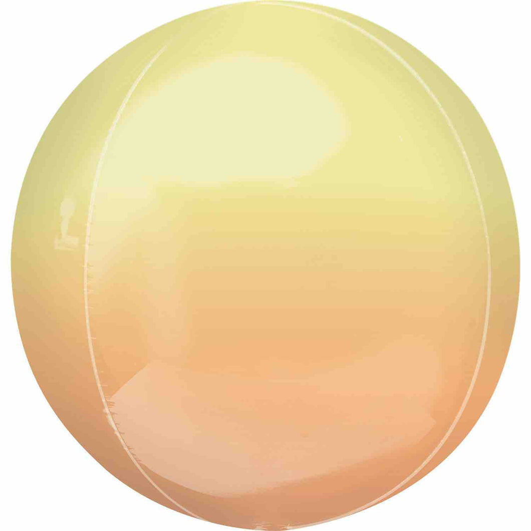 Ombre Yellow & Orange Orbz Balloon