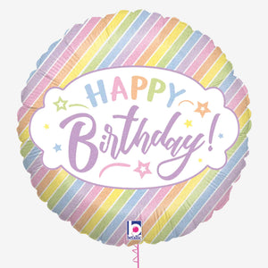 Pastel Birthday Holographic Foil Balloon
