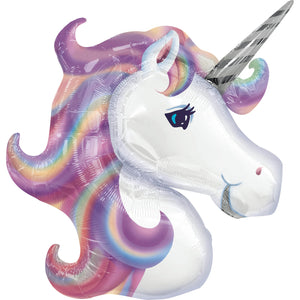 Giant Pastel Holographic Unicorn Balloon