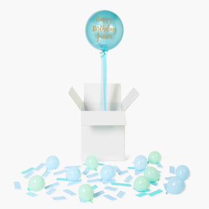 Personalised Pastel Blue Orbz Balloon in a Box