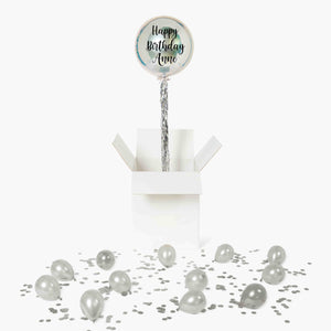 Personalised Silver Orbz Balloon in a Box