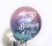 Personalised Balloon in a Box - Pick your colour