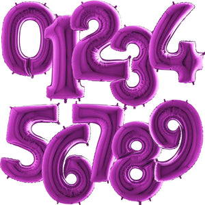 Purple Foil Number Balloons 40""