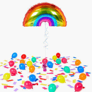 Bright Rainbow Foil Balloon