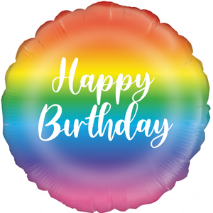 "Rainbow Birthday 18"" Foil Balloon"