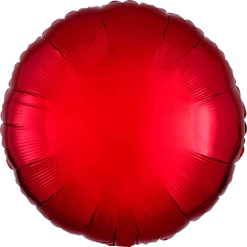 Red Circle Foil Balloon