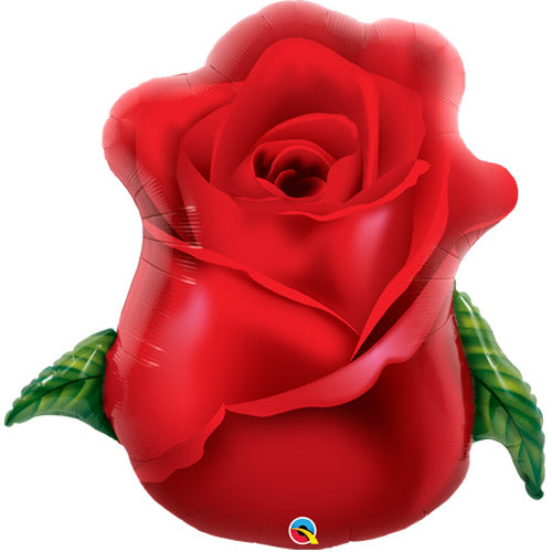 Red Rose Bud Foil Balloon
