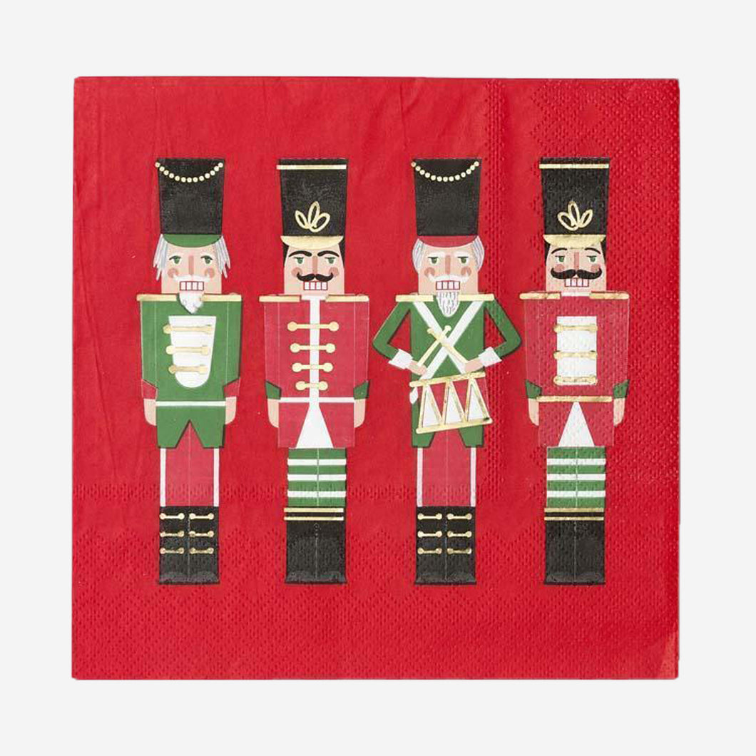 Botanical Nutcracker Napkin