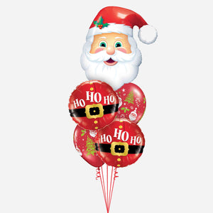 Santa Ho Ho Ho Balloon Bouquet