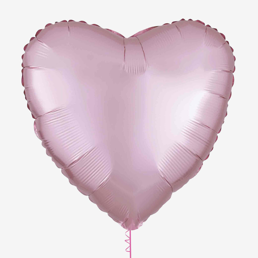 Satin Pink Heart Foil Balloon