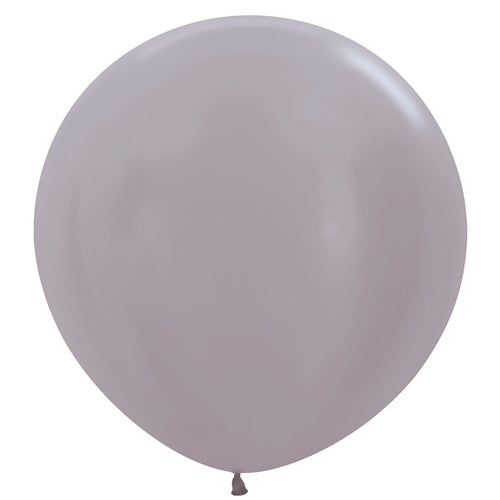 Silver giant 3ft latex balloon
