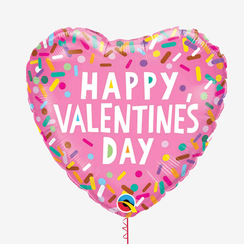 Happy Valentines Sprinkles Foil Balloon