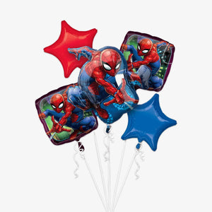 Spider-Man Foil Balloon Bouquets