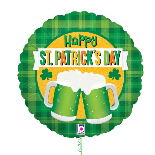 Happy St Patrick's Day Beer Balloon