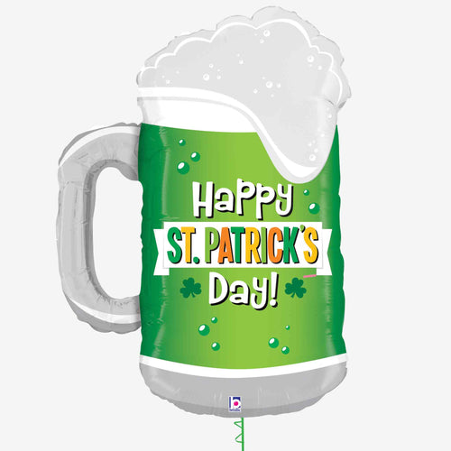 St Patrick's Day Green Beer Balloon