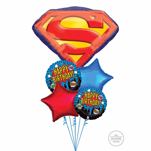 Superman Balloon Bouquet