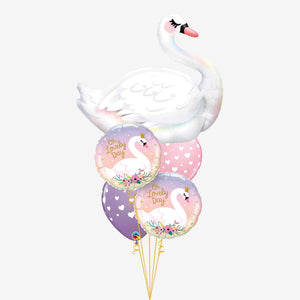 Oh Lovely Day Swan Balloon Bouquet