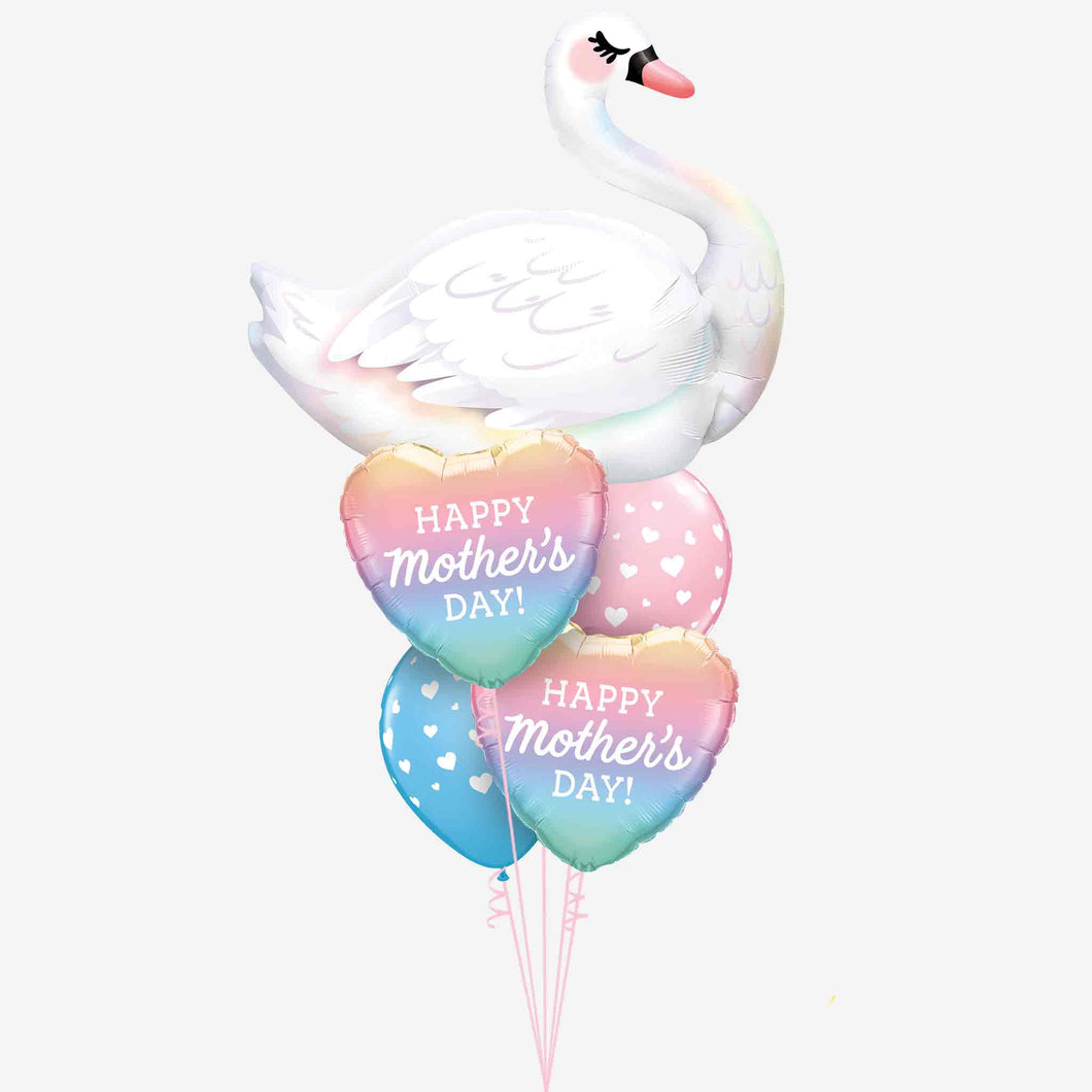Mother's Day Swan Balloon Bouquet