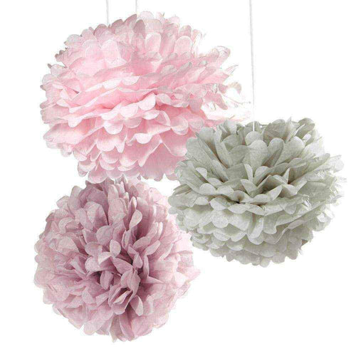 Oslo Rose and Grey Pom Poms
