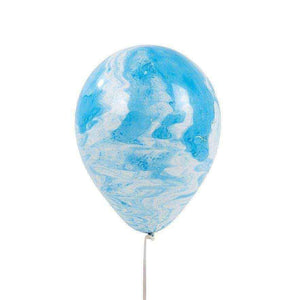 We Heart Blue Marble Latex Balloons